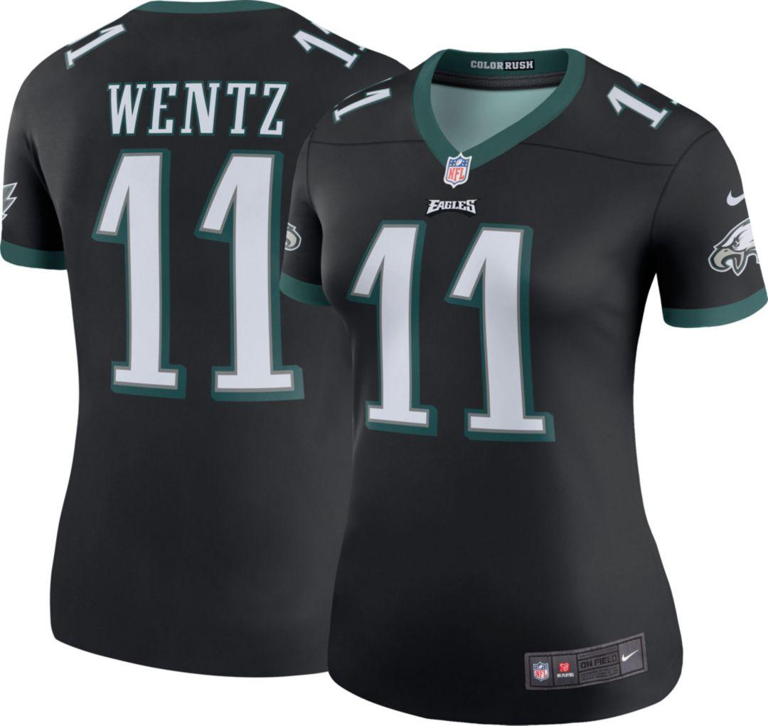 pretty nice 3ea05 33582 Nike Women's Color Rush Legend Jersey Philadelphia Eagles Carson Wentz #11