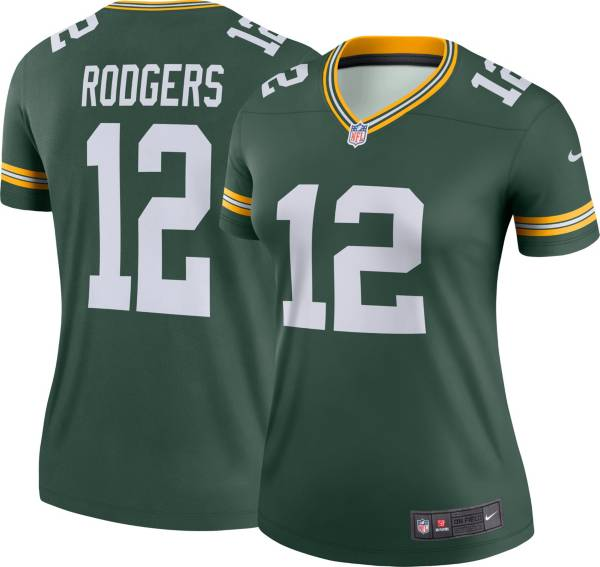Nike Women's Green Bay Packers Aaron Rodgers #12 Green Legend Jersey product image
