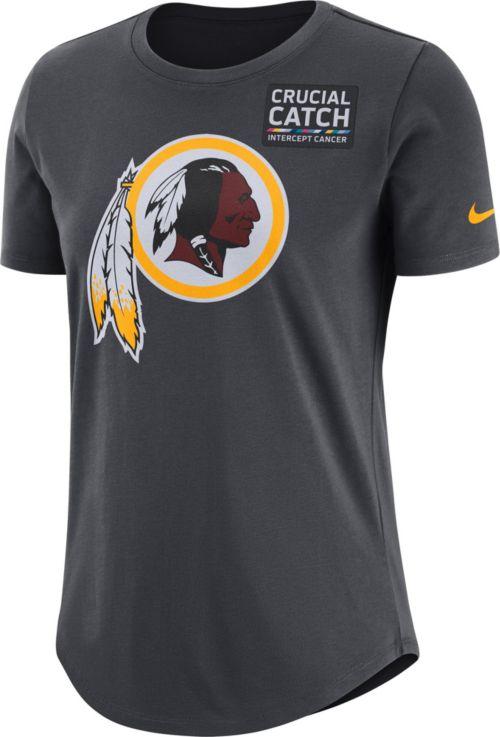 new photos e6cab 377ab Nike Women s Washington Redskins Crucial Catch Logo Anthracite T-Shirt.  noImageFound. Previous