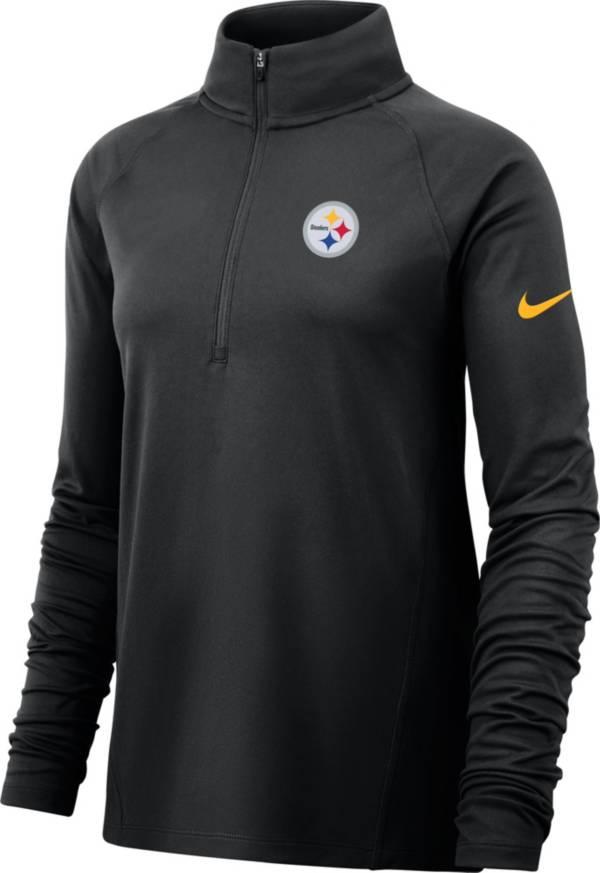 Nike Women's Pittsburgh Steelers Core Black Half-Zip Pullover product image