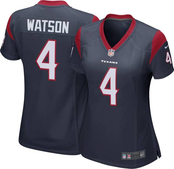 Nike Women's Houston Texans Deshaun Watson #4 Navy Game Jersey product image