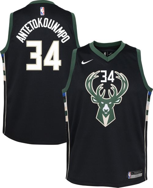 Nike Youth Milwaukee Bucks Giannis Antetokounmpo  34 Black Statement ... 7ce1185f0