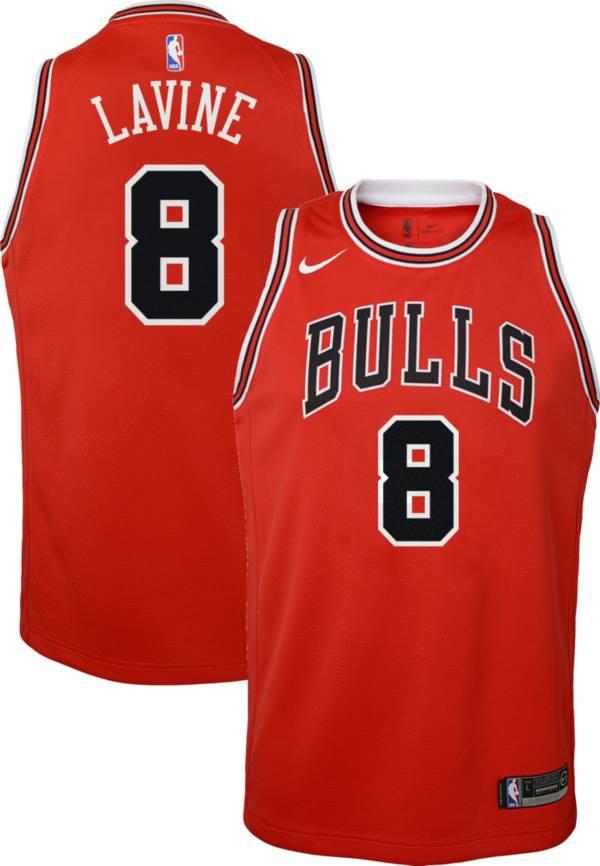 Nike Youth Chicago Bulls Zack Lavine #8 Red Dri-FIT Swingman Jersey product image