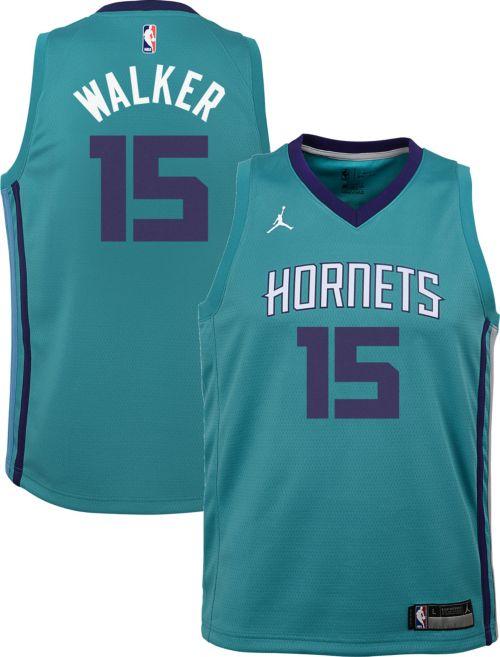 b0606112f16 Jordan Youth Charlotte Hornets Kemba Walker  15 Teal Dri-FIT Swingman Jersey.  noImageFound. Previous