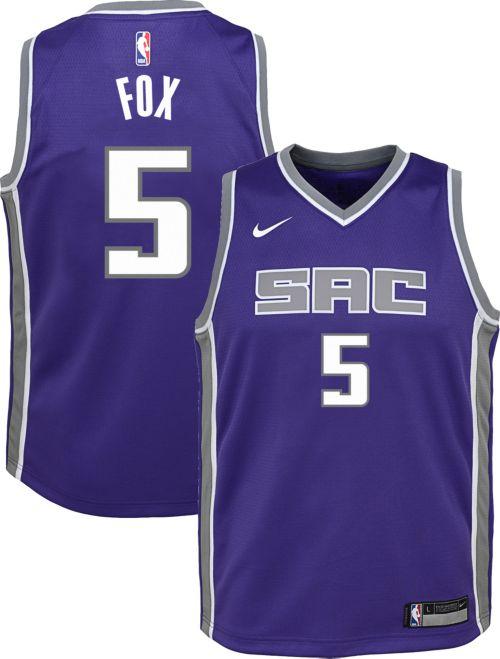 Nike Youth Sacramento Kings De Aaron Fox  5 Purple Dri-FIT Swingman Jersey.  noImageFound. Previous 2255a7aa7