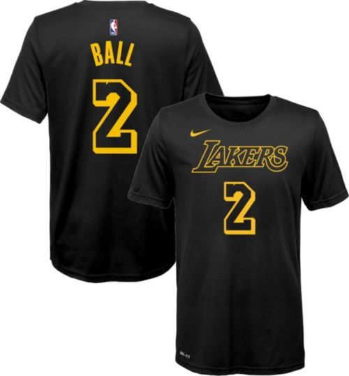 Nike Youth Los Angeles Lakers Lonzo Ball Dri-FIT City Edition T-Shirt 37831616a