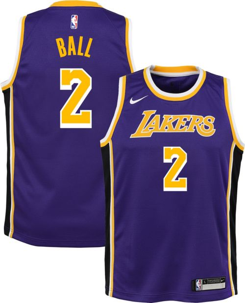 47ee76674866 Nike Youth Los Angeles Lakers Lonzo Ball  2 Purple Dri-FIT Swingman Jersey.  noImageFound. Previous