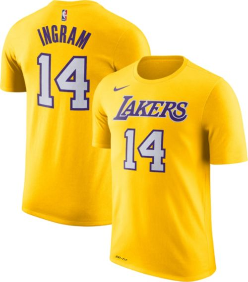52b3a305107 Nike Youth Los Angeles Lakers Brandon Ingram  14 Dri-FIT Gold T-Shirt.  noImageFound. Previous