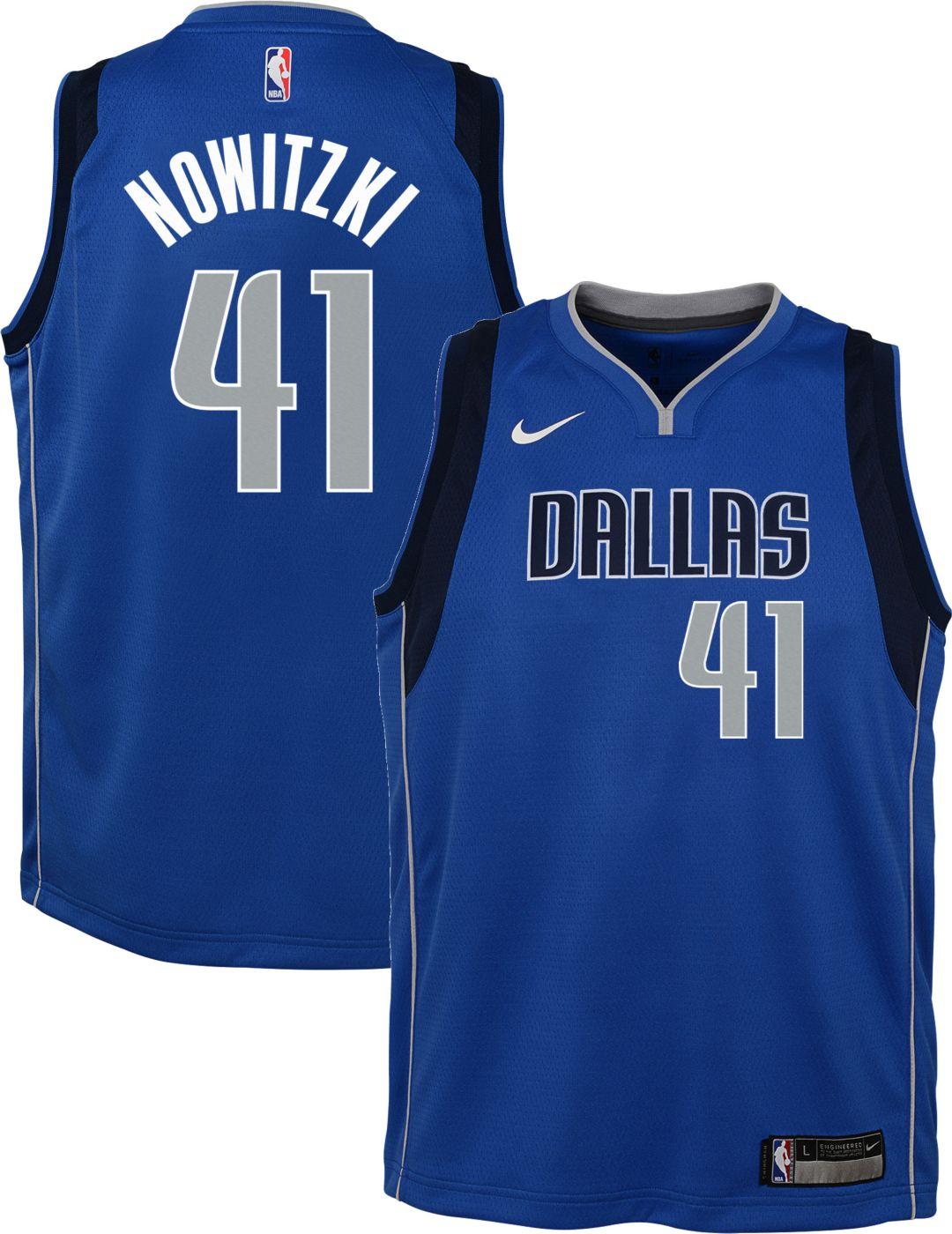 6470bece Nike Youth Dallas Mavericks Dirk Nowitzki #41 Royal Dri-FIT Swingman Jersey.  noImageFound. Previous