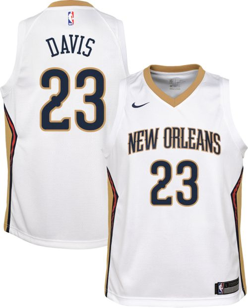 af95a530b69 Nike Youth New Orleans Pelicans Anthony Davis #23 White Dri-FIT Swingman  Jersey. noImageFound. Previous