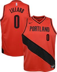 wholesale dealer 805a3 68da4 Nike Youth Portland Trail Blazers Damian Lillard #0 Red Dri-FIT Swingman  Jersey