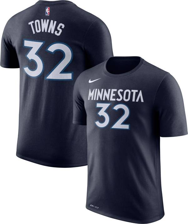 Nike Youth Minnesota Timberwolves Karl-Anthony Towns #32 Dri-FIT Navy T-Shirt product image