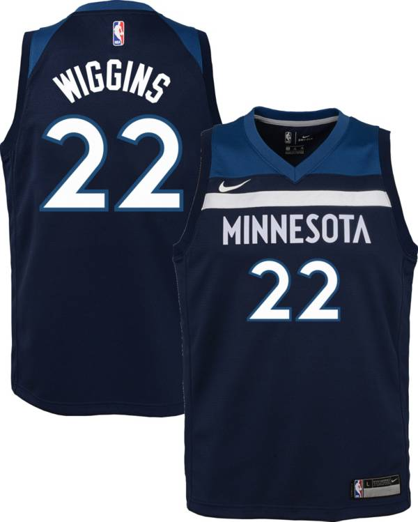 Nike Youth Minnesota Timberwolves Andrew Wiggins #22 Navy Dri-FIT Swingman Jersey product image