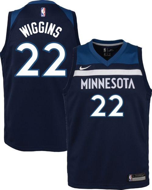3f82ab097 Nike Youth Minnesota Timberwolves Andrew Wiggins  22 Navy Dri-FIT Swingman  Jersey. noImageFound. Previous