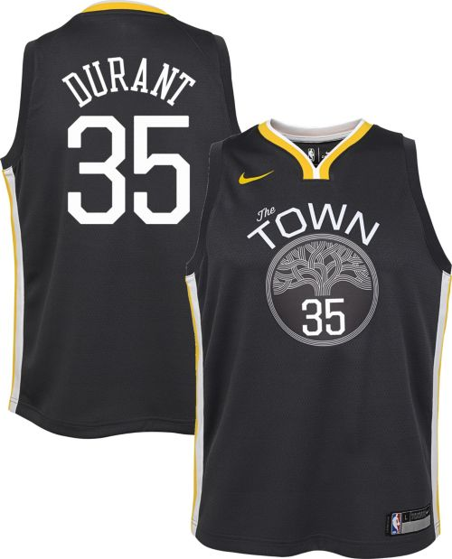 b5ea281895a Nike Youth Golden State Warriors Kevin Durant  35 Grey Dri-FIT Swingman  Jersey. noImageFound. Previous