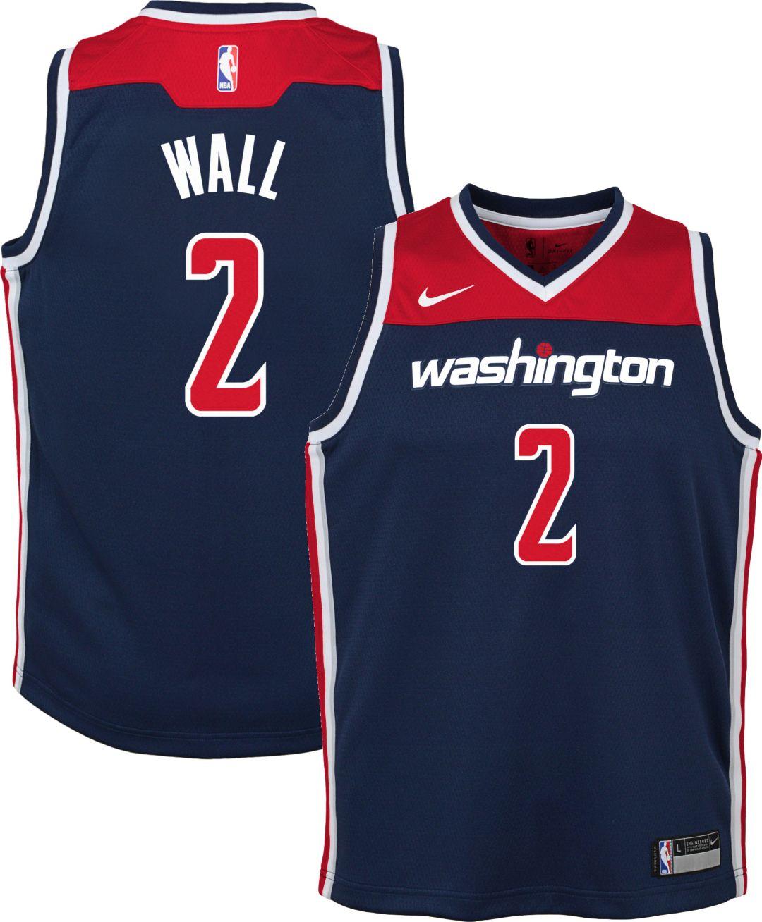 4db286cc Nike Youth Washington Wizards John Wall #2 Navy Dri-FIT Swingman ...