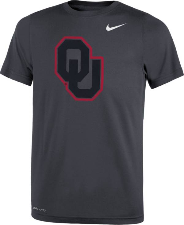 Nike Youth Oklahoma Sooners Anthracite Travel Football Legend T-Shirt product image