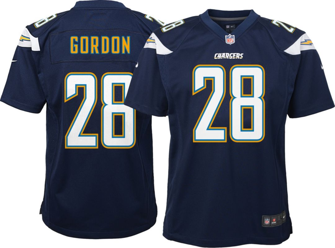 online store 6047a 4333e Nike Youth Home Game Jersey Los Angeles Chargers Melvin Gordon #28
