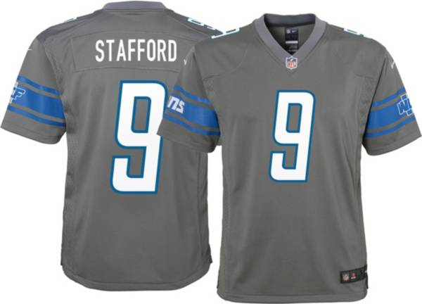 Nike Youth Detroit Lions Matthew Stafford #9 Grey Game Jersey product image