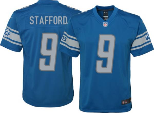 Nike Youth Detroit Lions Matthew Stafford #9 Blue Game Jersey