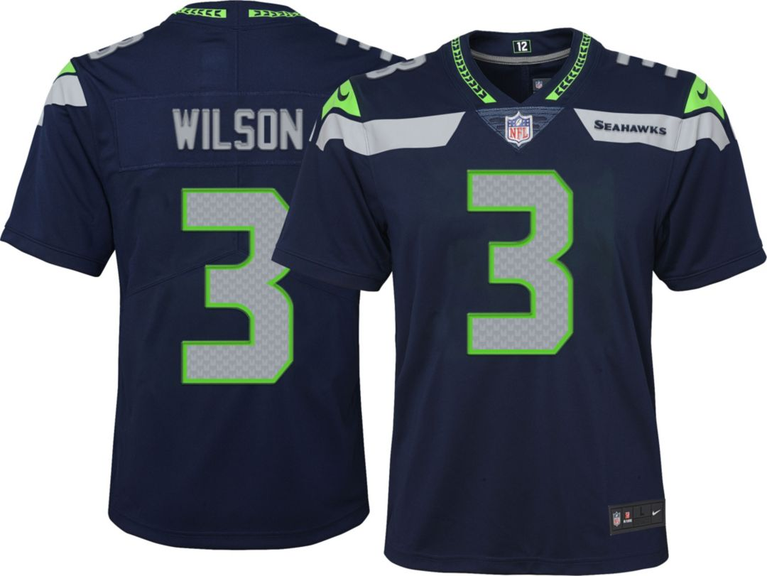 wholesale dealer b998e f9b5d Nike Youth Home Limited Jersey Seattle Seahawks Russell Wilson #3