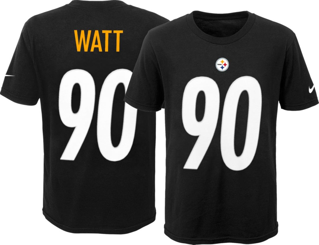 890e8401 Nike Youth Pittsburgh Steelers T.J. Watt #90 Pride Black T-Shirt.  noImageFound. Previous