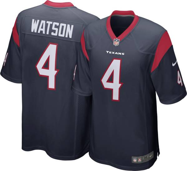 Nike Youth Houston Texans Deshaun Watson #4 Navy Game Jersey product image