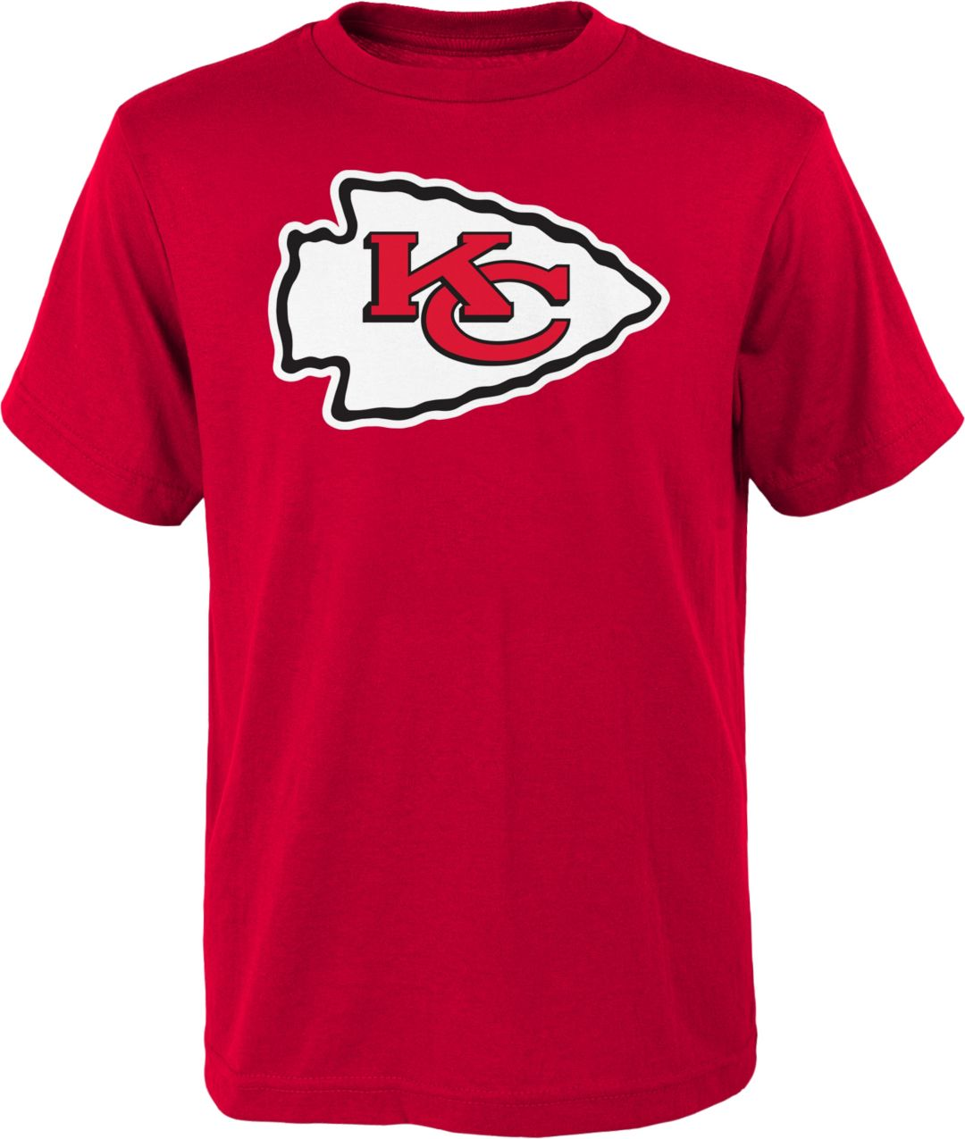 f7f876e4 NFL Team Apparel Youth Kansas City Chiefs Logo Red T-Shirt