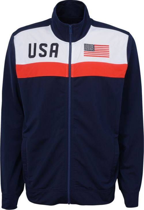 eeef60fa84d Outerstuff Men s USA Soccer Navy Track Jacket. noImageFound. Previous