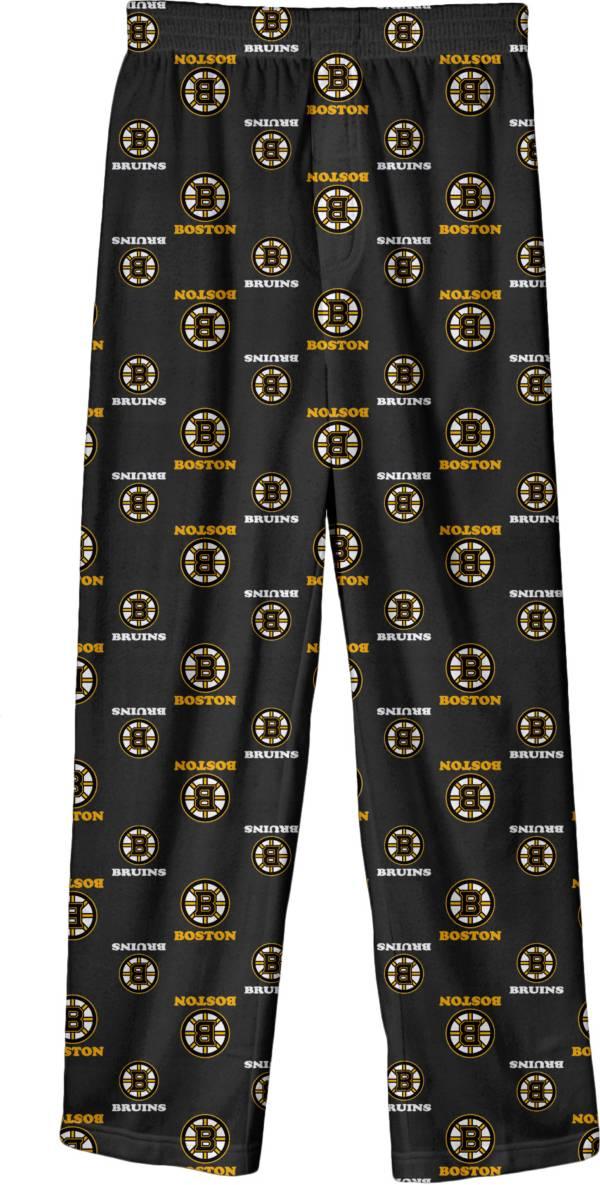 NHL Youth Boston Bruins Team Logo Black Sleep Pants product image
