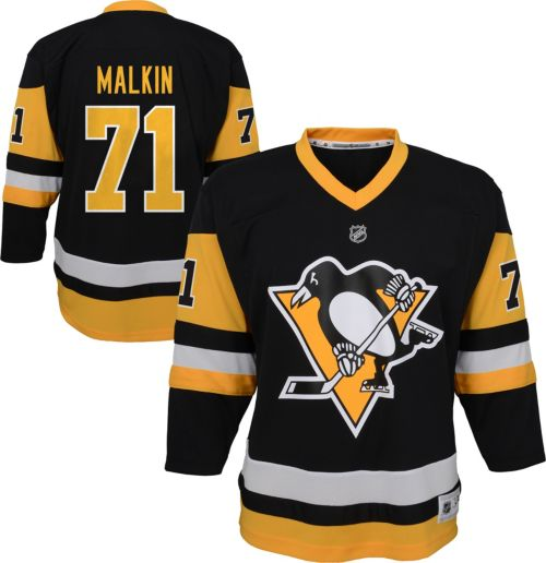 61ffb1f3f NHL Youth Pittsburgh Penguins Evgeni Malkin  71 Replica Home Jersey ...