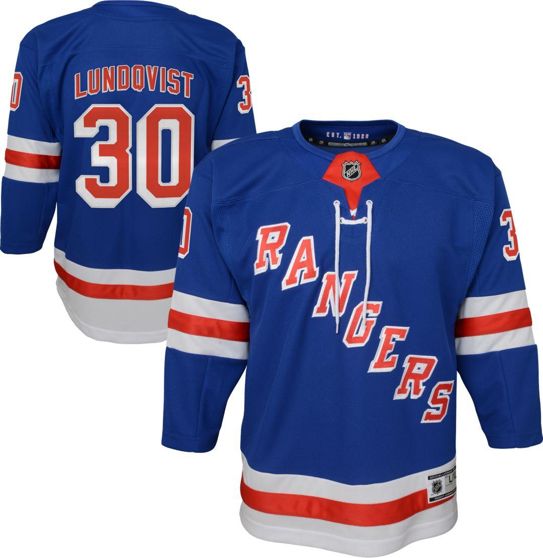 separation shoes 80426 9cb86 NHL Youth New York Rangers Henrik Lundqvist #30 Premier Home Jersey