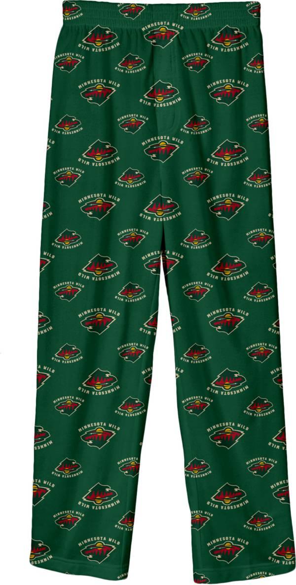 NHL Youth Minnesota Wild Team Logo Green Sleep Pants product image