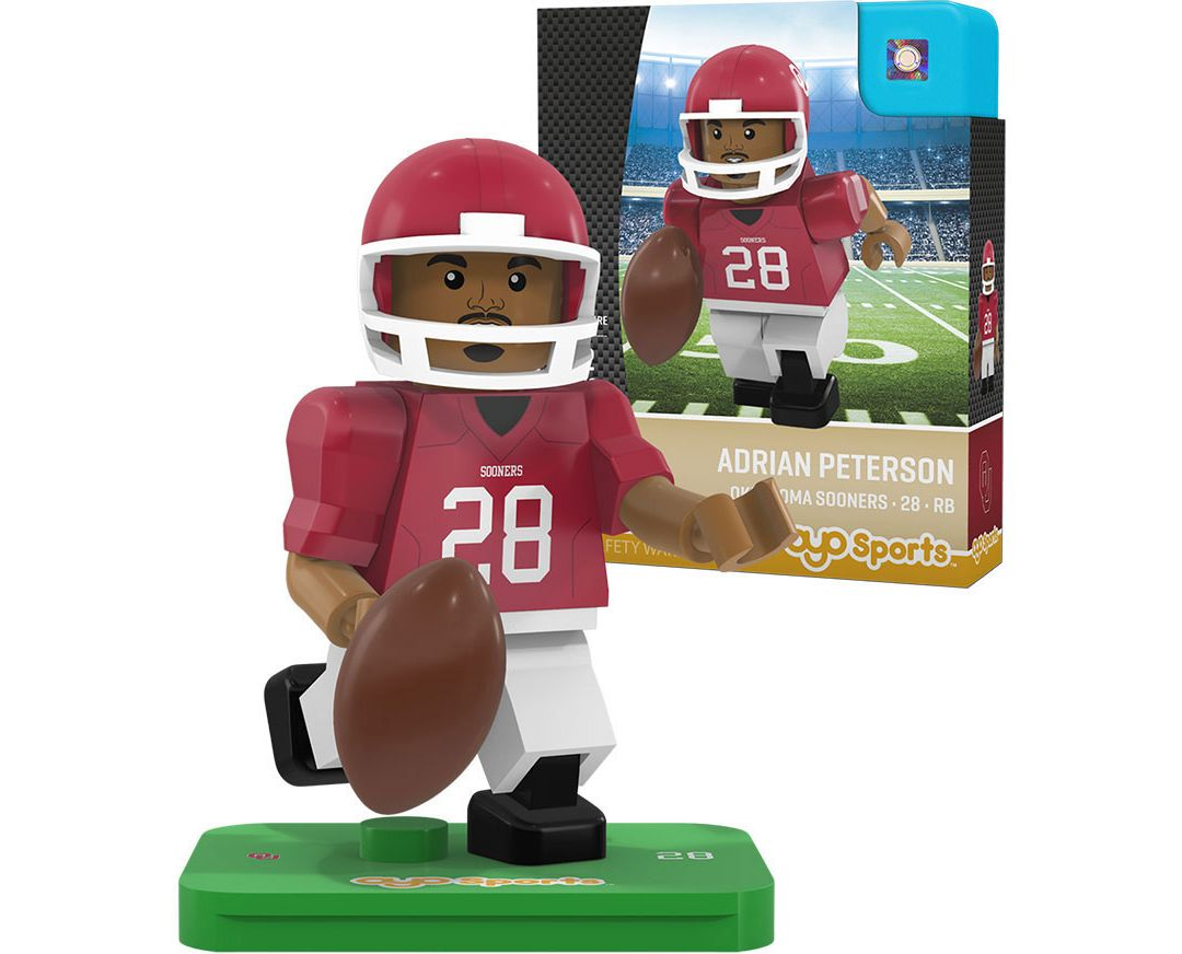 low priced a1a46 765f1 OYO Oklahoma Sooners Adrian Peterson Figurine