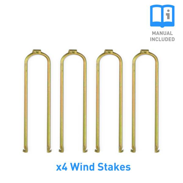 Pure Fun 4-Piece Universal Trampoline Wind Stakes Anchor Kit product image