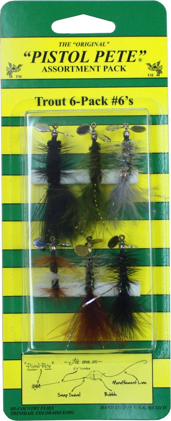 Pistol Pete Size 6 Trout Fly – 6 Pack product image