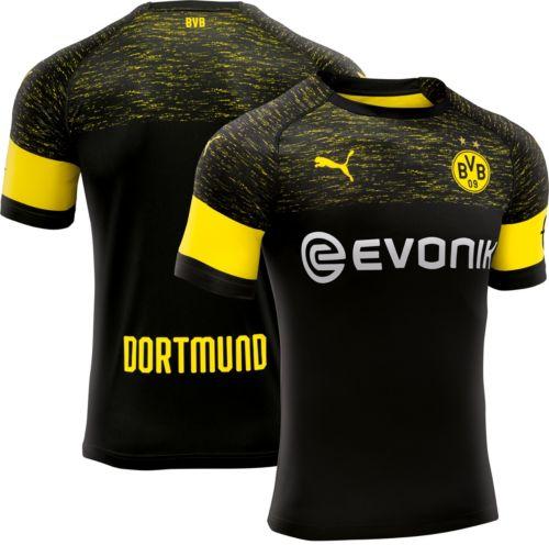 3984506b1d4 PUMA Men s Borussia Dortmund 2018 Stadium Away Replica Jersey ...