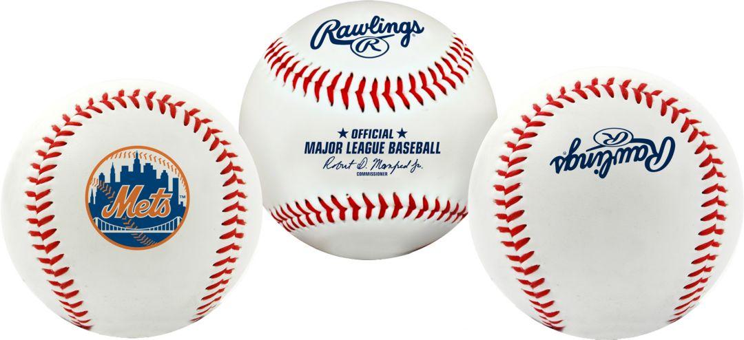 6894d49a Rawlings New York Mets Logo Baseball   DICK'S Sporting Goods