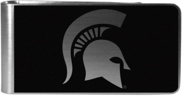 Michigan State Spartans Black and Steel Money Clip product image