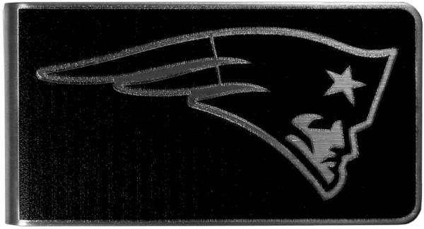 New England Patriots Black and Steel Money Clip product image