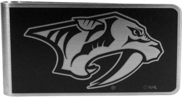 Nashville Predators Black and Steel Money Clip product image
