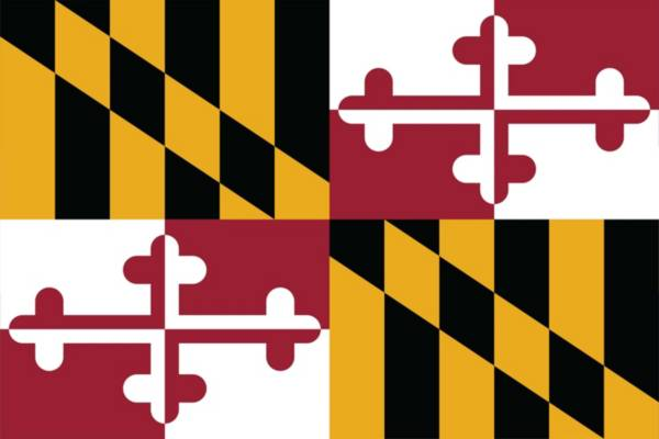 Sola Maryland State Flag Beach Towel product image