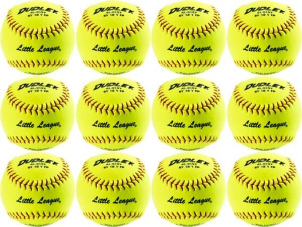 Dudley Little League 12'' Softballs - 12 Pack product image