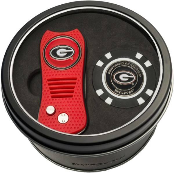 Team Golf Georgia Bulldogs Switchfix Divot Tool and Poker Chip Ball Marker Set product image