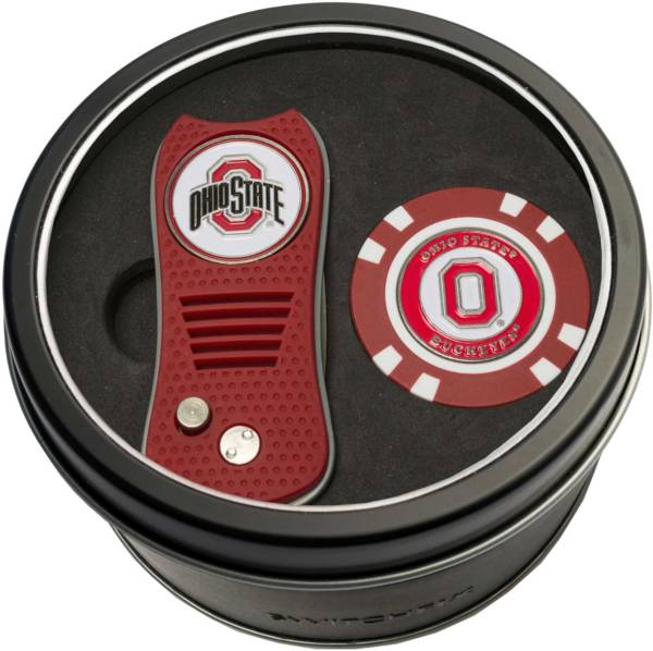 Team Golf Ohio State Buckeyes Switchfix Divot Tool and Poker Chip Ball Marker Set product image