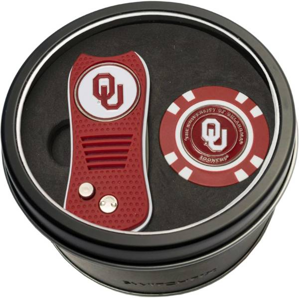 Team Golf Oklahoma Sooners Switchfix Divot Tool and Poker Chip Ball Marker Set product image