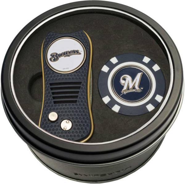 Team Golf Milwaukee Brewers Switchfix Divot Tool and Poker Chip Ball Marker Set product image