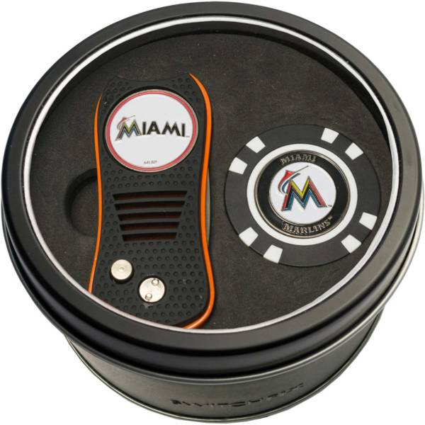 Team Golf Miami Marlins Switchfix Divot Tool and Poker Chip Ball Marker Set product image