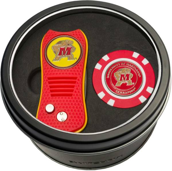 Team Golf Maryland Terrapins Switchfix Divot Tool and Poker Chip Ball Marker Set product image