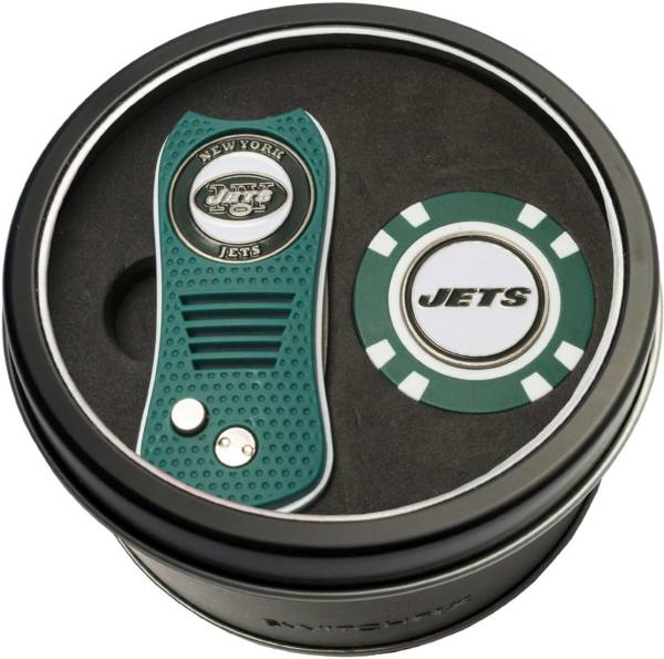 Team Golf New York Jets Switchfix Divot Tool and Poker Chip Ball Marker Set product image
